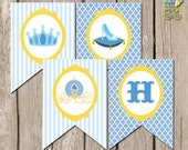 INSTANT download: Cinderella Party -  Glass Slipper Party Banner - Printable PDF file