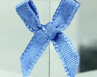 B-111 / Little Satin Ribbon Bows / 100 Pcs / Color - corn flower blue/ Size : 2 cm.