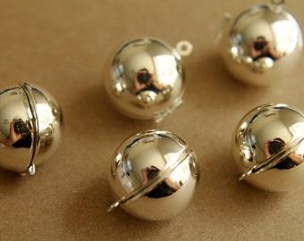 1 pc. Silver Ball Lockets   LOC-018