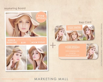 Senior Rep Card and Marketing Board Photoshop Templates