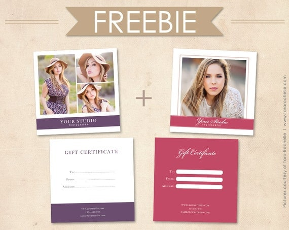 Items Similar To Free Gift Certificates Photoshop Templates On Etsy