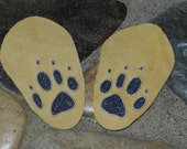 Mens wolf print moccasin