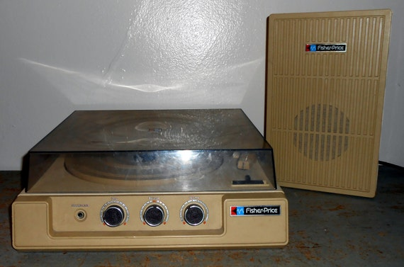 Vintage Record Player Fisher Price Stereo System Turntable