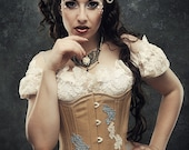 Steampunk Burlesque Gothic Wedding Boudoir Lace Top Romantic Victorian ANTIQUED Lace Lolita Bridal By Ophelias Folly