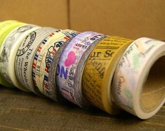 Washi Tape Set - Japanese Washi Tape - Masking Tape - Deco Tape - 6 Rolls - WTS2024