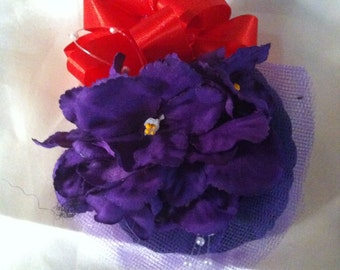 African Violet  Corsage - lot of 35