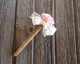 Rustic Wedding Guest Book Pen, Rustic Wedding, Bridal Shower Pen, Shabby Chic Pen.