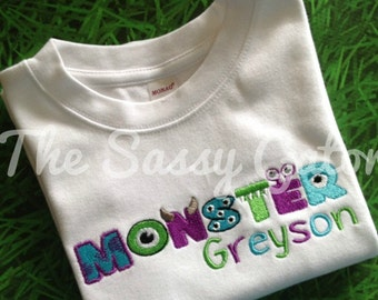 Monster Inc. theme Birthday-Monsters Birthday Shirt, Toddler Birthday Shirt, monsters birthday theme, boys birthday shirt, toddler birthday