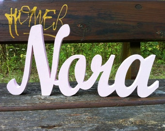 Wooden letters together in one piece. 1.5 custom