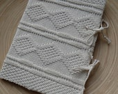 SECRETS - A4 sketchbook with an handknit cover - Pure cotton - off white - other colors made to order - Free shipping worldwide