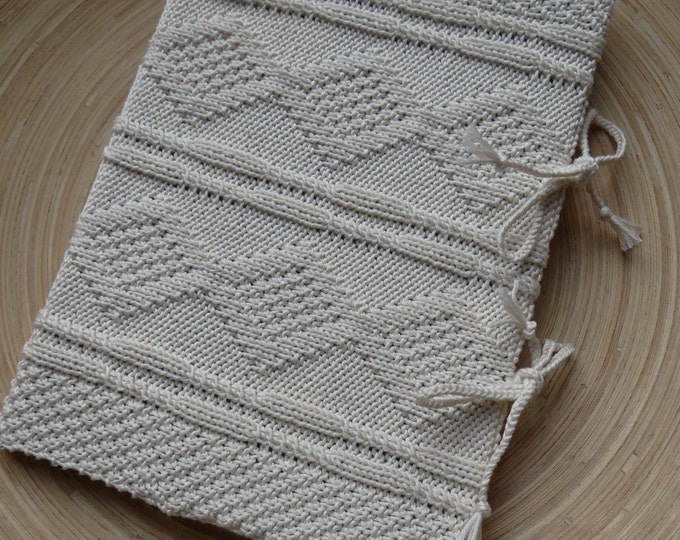 SECRETS - A4 sketchbook with an handknit cover - Pure cotton - off white - other colors made to order