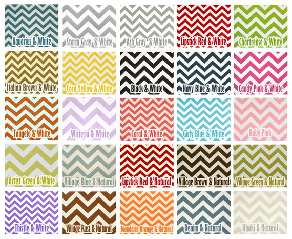 Custom Color Modern Zig Zag Chevron Curtains - Rod Pocket - 84 96 108 or 120 Long by 24 or 50 Wide - Optional Blackout or Cotton Lining