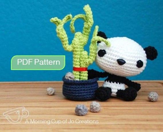 Amigurumi Guinea Pig Pattern Free : Amigurumi Crochet PDF Pattern Baby Panda & Lucky Bamboo