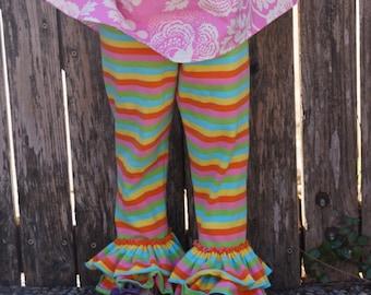 Over the Rainbow Double Ruffle leggings