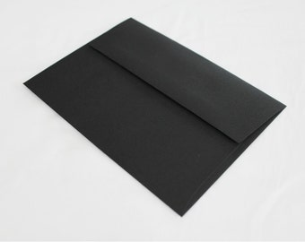 50 Black 4x6 Invitation Envelopes - set of 50 - size A6 4-3/4 x 6-1/2