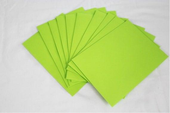 50 Neon Green 4x6 Invitation Envelopes set of 50 size A6