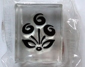 Graphic Flower Lucite Rubber Stamp for Crafting
