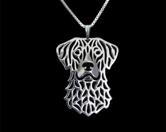 chesapeake bay retriever - sterling silver pendant and necklace