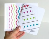 Wedding Greeting Card Wedding Cake Card for Newlyweds Marriage Wishes Card with Lined Envelope