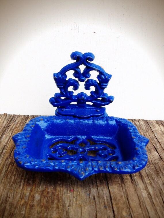 Bold Royal Cobalt Blue Business Card Holder Soap Dish