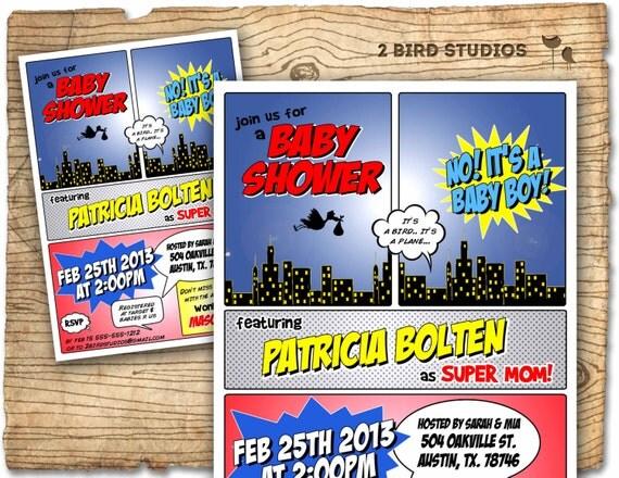 superhero baby shower invitation superhero invitation girl, Baby shower invitations