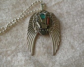 Steam Punk - bright silver plated angel wings with clock