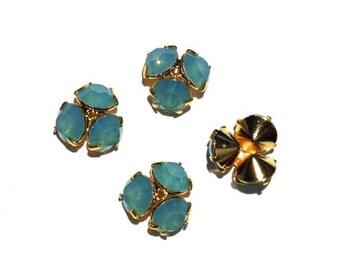 4 Pacific Opal Swarovski Bead Caps, Swarovski Flower, Swarovski Beads, 10mm