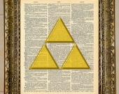Legend of Zelda Triforce Dictionary Art