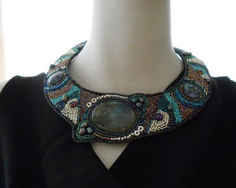 Sands of Time Embellished Necklace OOAK