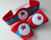 Superhero Belt and Wrist Cuffs - Super Hero Pretend Play - Kids Costume - Dress Up Items