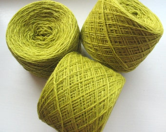 Wool Yarn Green Salad 350 gr 12.2oz skein / 2 ply, each skein contains approximately 1500-1700 yds