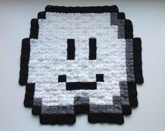 Super Mario Lakitu's Cloud 8-bit Crochet Blanket