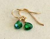 Emerald Teardrop Earrings...