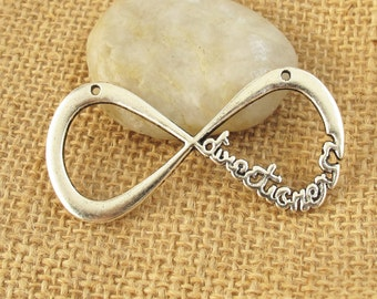 4 pcs 30x60mm Antique Silver Lovely Infinity Forever Directioner One Direction Infinite 1D Boy Band Charms Pendants Letter 8 XS1576B-30