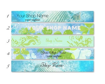 ETSY SHOP BANNERS Natural 2 Etsy Shop Banners and 2 Avatars