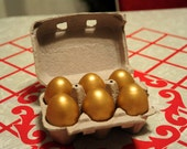 Wooden Eggs - Golden Fairytale Eggs - Set of 6, Waldorf / Montessori, Play Food, Play Kitchen