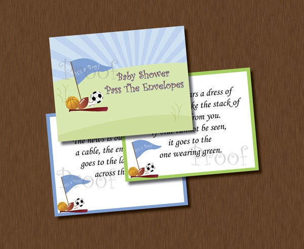instant download pass the envelopes baby shower by allewiredups