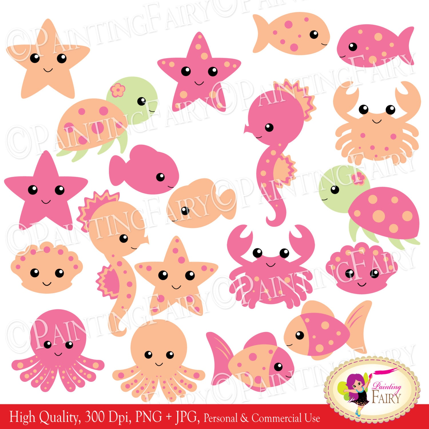 INSTANT DOWNLOAD clipart Cute Under the by PaintingFairyClipart