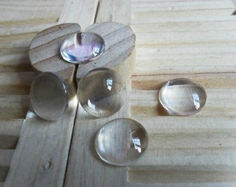 50pieces  14mm Round Glass Cabochon