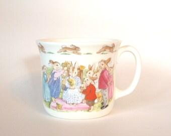 Vintage Royal Doulton Fine Bone China Bunnykins One Handled Mug 'Queen of May' Circa 1988 - England