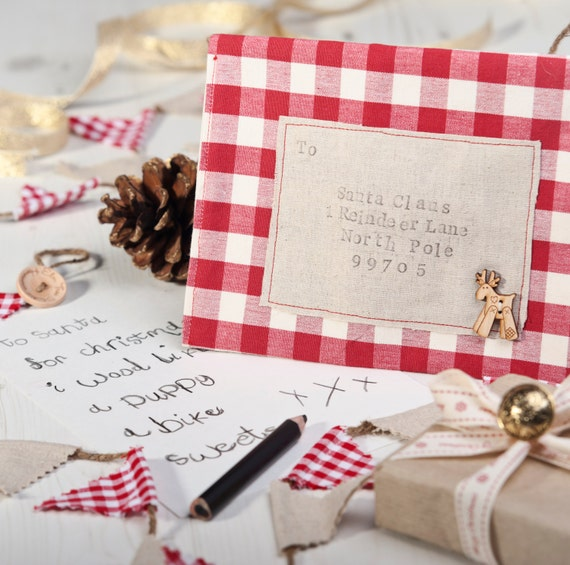 Letter to Santa fabric envelope