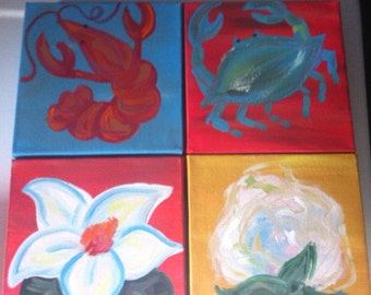 Southern quartet paintings- bright