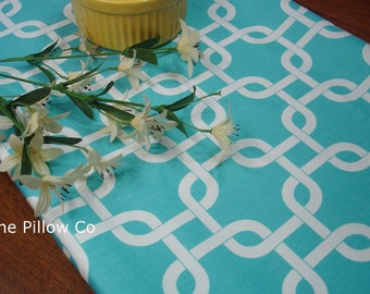 Girly Blue Table Runner - Wedding Table runner Bridal Shower  Runner Blue Gotcha  Links Home Decor 13 X 52