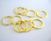 Hammered Gold Rings 25mm Metal Hoops Circles Connector Plated Links Findings Best Wholesale Jewelry Supply Online Site CrazyCoolStuff