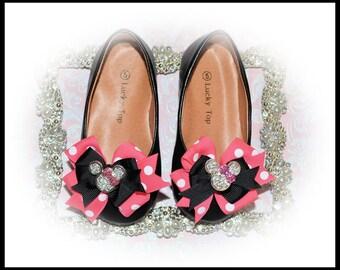 Shoe Clip Bows, Mouse Ears Shoe Clips, Baby Shoes Clips, Toddler Shoe Clips, Girls Shoe Clips, Women Shoes, Photo Prop