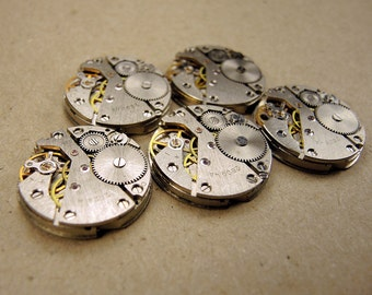 Vintage Watch Movements - set of 5 - c131