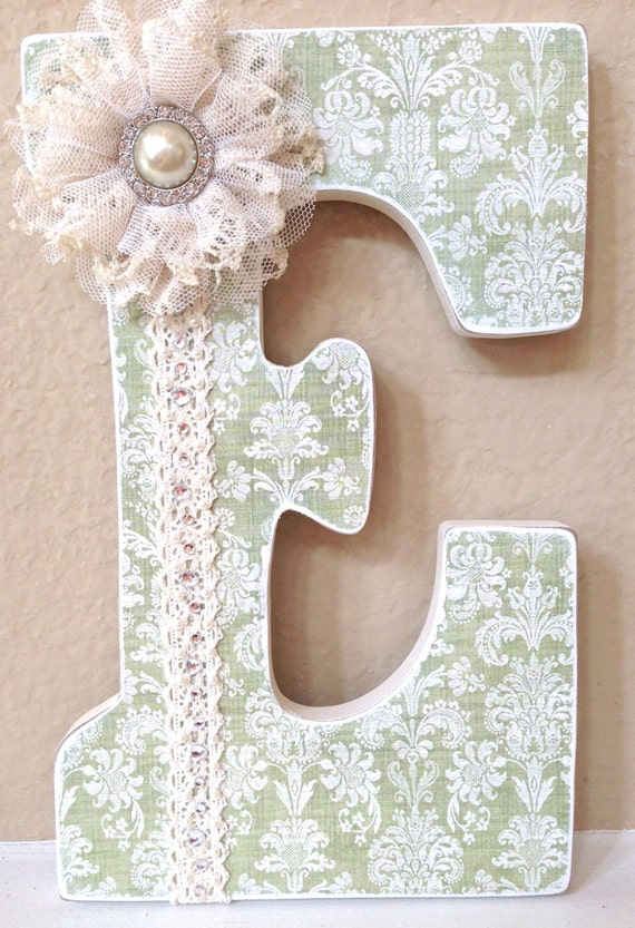 Custom nursery letters baby girl nursery decor for Baby room decoration letters