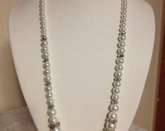 White Wedding Necklace
