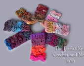 PDF Crochet Pattern File - Fancy Schmancy Wrist Cuffs Fingerless Gloves