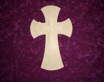 Unfinished Wood Layered Wooden Cross Stacked MDF Crosses Part MLC15-163